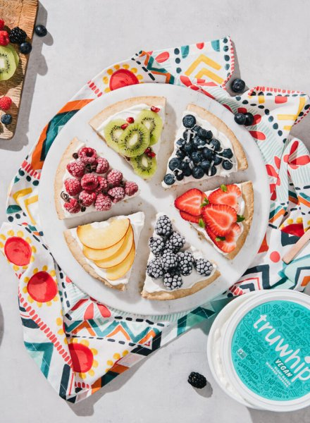 vegan truwhip fruit pizza recipe