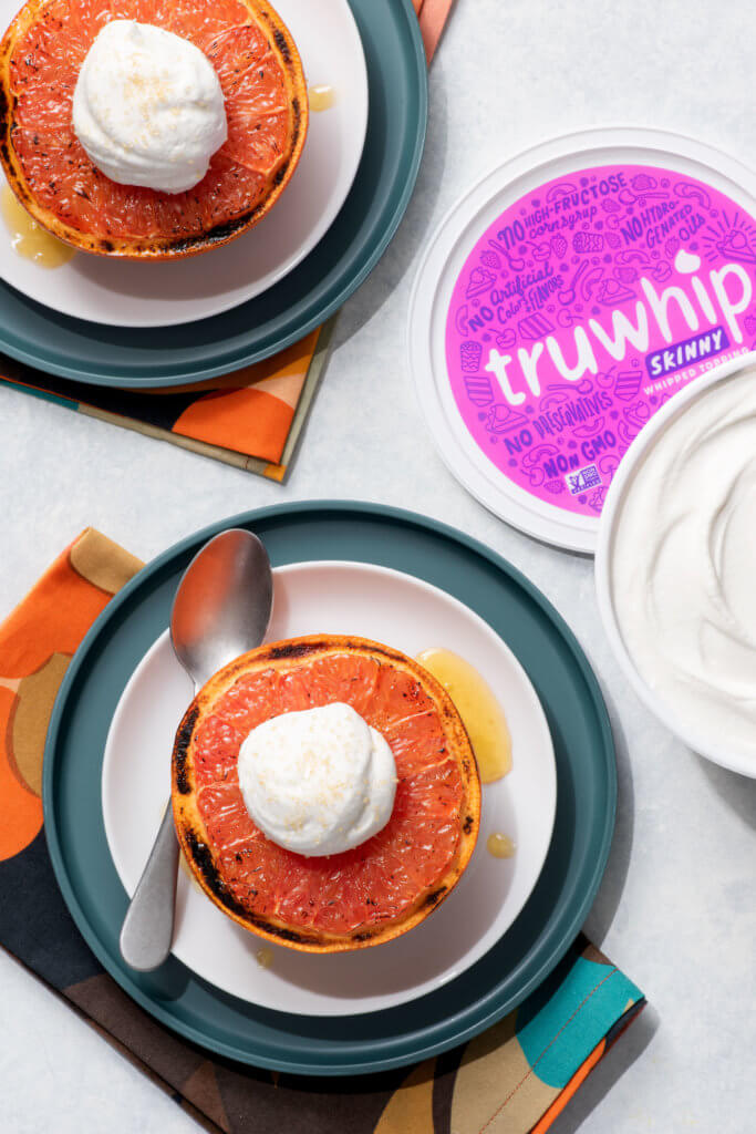 truwhip topped broiled grapefruit